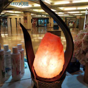 LAMPADA DI SALE ONDEGGIANTE FOGLIA DI COCCO BLACK SAL 06102 VOGANTO